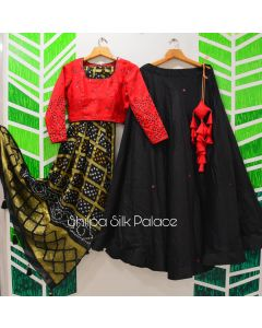 Black Red Chaniya Choli