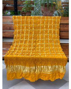 Yellow Gajji Silk Gharchola Dupatta