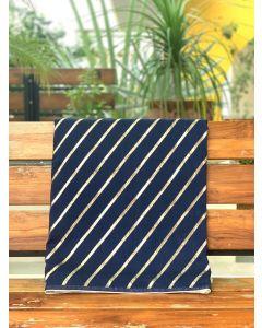 Navy Blue Leheriya Pure Dola Silk